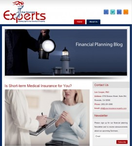 Your Insurance Experts Website Screenshot
