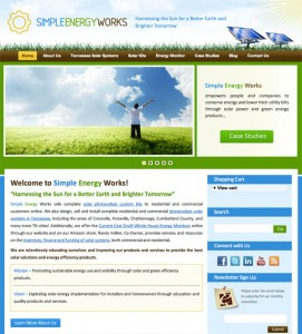 Simple Energy Works website screenshot